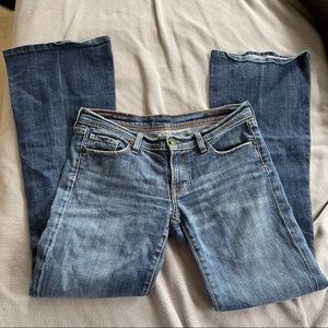 Citizens of humanity's low waist flair flare jeans size 28